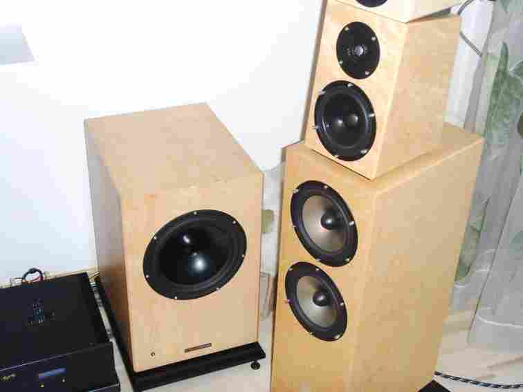 Picture of loudspeaker Sonics Allegra with active subwoofer